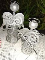 Muzsikáló angyalok-Különleges,egyedi karácsonyi dekoráció fémből!