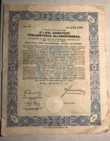 A Magyar Királyság 3%-kal kamatozó törlesztéses államadóssága-1942