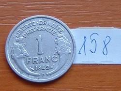 FRANCIA 1 FRANC FRANK 1949 / B ALU. 159.