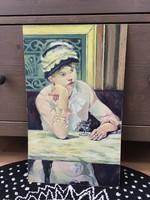 Farostra festett keret nélküli festmény
