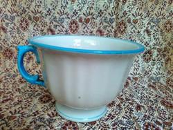Antik, biedermeier, kézzel festett, porcelán teáscsésze