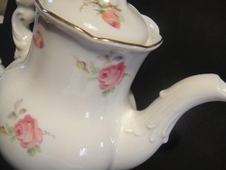 Antik barokk rózsás teás kiöntő,hibátlan,jelzett...
