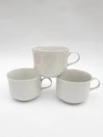 3 db fehér Alföldi Saturnus kávéscsésze - tejeskávés csésze - retro porcelán csészék