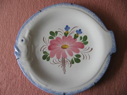 Hal forma francia dísz tál kézzel festett