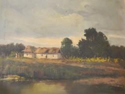 Almády István, Alföldi tanya olaj-vászon festmény
