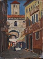 Radnay József (1896-1963): Utcakép