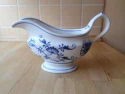 Antik TK Thun hagymamintás porcelán szószos kínáló