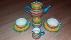 2 személyes  teás készlet hódmezővásárhelyi kerámia