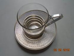 Eloxált alumínium és thermo üveg modern kávés készlet