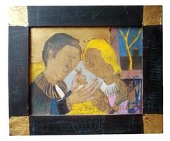 Kondor Béla - Szerelmi jelenet című festménye
