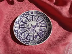 Horoszkópos porcelán tányér, a kakas éve