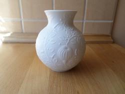 AK Kaiser Bavaria biszkvit fehér porcelán kis váza