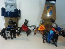 Geobra munkások figurák 4 db a képeken látható állapotban van lovas