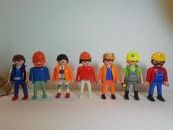 Geobra munkások figurák 7 db a képeken látható állapotban van