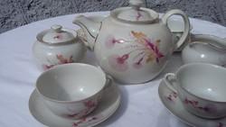Hollóházi teás készlet, ritka, régi, retro