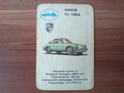 Autós játékkártya