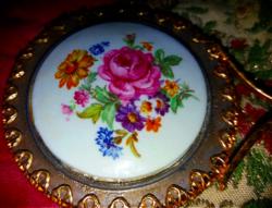 Antik Kézitükör Porcelánnal