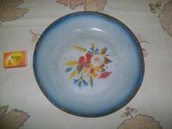 Régi zománcos tál, tányér Bonyhád jelzéssel