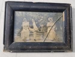 Psiché de Kiesel, vintage nyomat, eredeti, törött üvegű keretében, néhol kopott, 110 év,vagy öregebb
