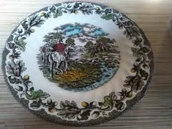 Vadász jelenetes Angol porcelán süteményes tányérok