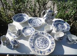 6 személyes Wedgwood Blue Onion hagyma mintás porcelán étkészlet 36 darabos