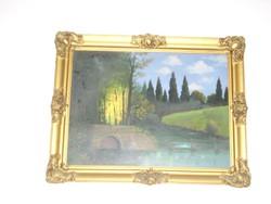 Erdei tájkép - ismeretlen festő képe az 1930-as évekből