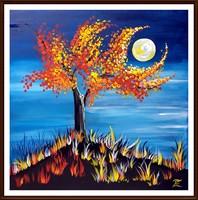 Czinóber - Izzásban ( 30 x 30, körűl festett )
