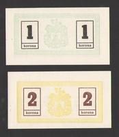 Miskolcz 1919. 1, 2, 10, 20 korona!! UNC!!