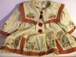 Ritka érdekesség a Galérián: antik, régi hímzésekkel díszített  baba ruha, kislány, gyermek kabát