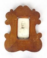0Y094 Antik KUK katona fotográfia fa keretben