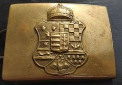 KuK barokk címeres honvéd övcsat