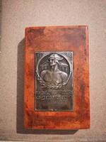 Régi jelzett ezüst plakett Bakonyi Sándor Pénzintézeti Sportegyletek Szövetsége 1912 1936