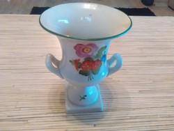 Herendi porcelán füles serleg váza