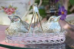 Ezüstözött só ,borsszóró madárkák