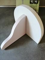 Fehér konzolos falipolc
