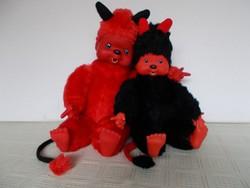 2 db tündéri ördög moncsicsi, 38 és 30 cm-esek