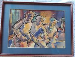 Hajós Imre Akvarell nagyméret