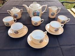 Altwasser  jelenetes  teas készlet