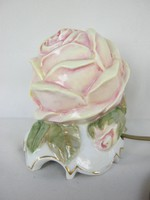 Rudolstadt porcelán rózsa lámpa