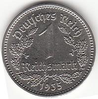 Német III. Birodalom 1 MÁRK  1935A