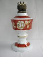 Wallendorf porcelán rózsás petróleumlámpa