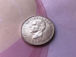 1960 ezüst görög 20 drachma 7,5 gramm 0,835 gyönyörű darab