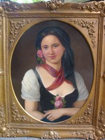 Délnémet festő, 1870 körül: Leány képmása
