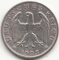 Német Reichsmark 1925J  AG ezüst !