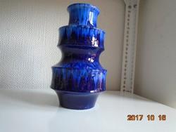 Magas Indigókék Scheurich W.Germany számozott 867 25 váza vintage 1970