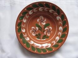 Sárospataki kerámia tányér