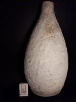 EXTRÉM RITKA nagy méretű IZSÉPY MARGIT samottos kerámia váza jelzett hibátlan
