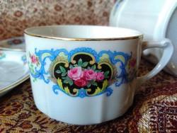 LEÁRAZTAM!!! Porcelán teáskészlet a historizmus korából