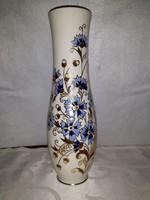 Zsolnay kézzel festett búzavirág mintás váza