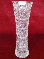 Üveg váza retro korszak mag. 24 cm átm. 9 cm kis lepattanás a szélén egy gombóc fagyiért + szállítás